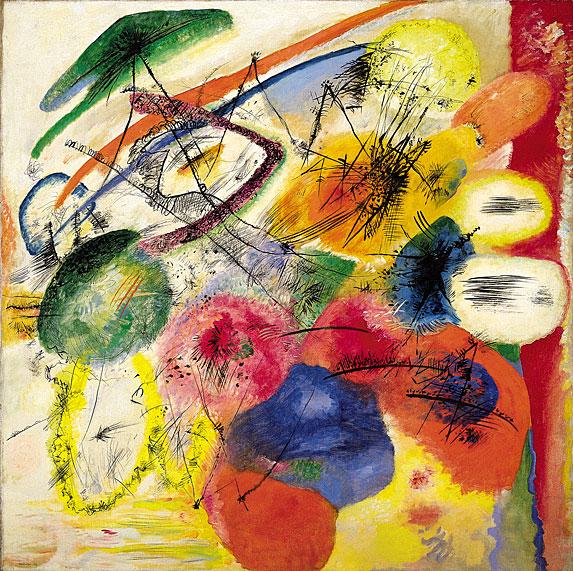 Black strokes I, 1913 - Wassily Kandinsky