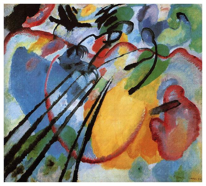 Improvisation 26 (Rowing), 1912 -  Wassily Kandinsky