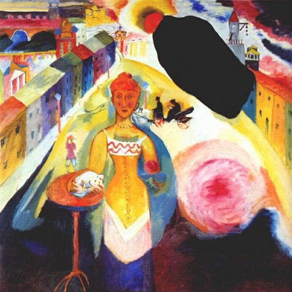 Lady in Moscow, 1912 - Wassily Kandinsky