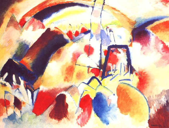 Landscape with red spots, 1913 - Wassily Kandinsky ...