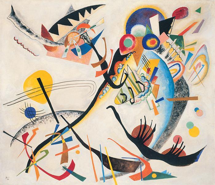 Blue segment, 1921 - Wassily Kandinsky