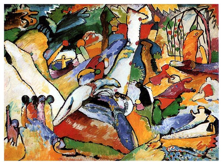 "Study to ""Composition II"" -  Wassily Kandinsky"