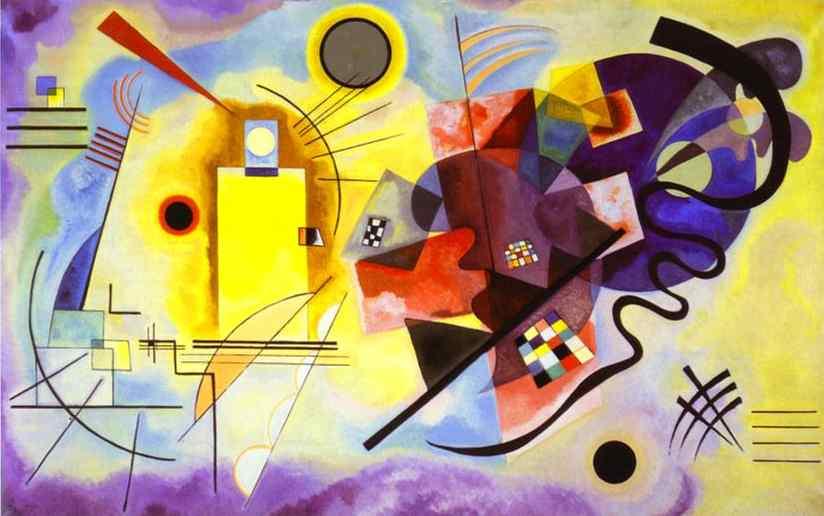 Yellow, Red, Blue (Kandinsky, 1925)
