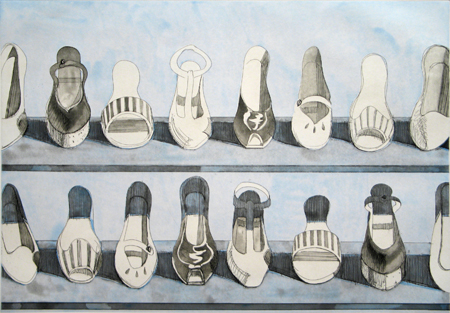 Shoe Rows - Wayne Thiebaud