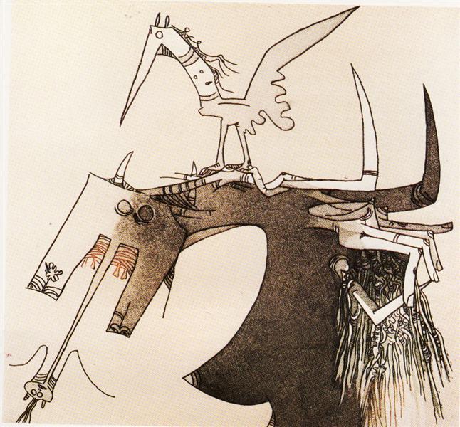 Gravure, Uno, 1967 - Wifredo Lam