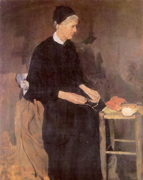 Die alte Pariserin, 1870 - Wilhelm Leibl
