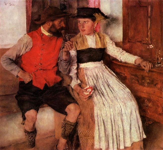 In der Bauernstube, 1890 - Wilhelm Leibl