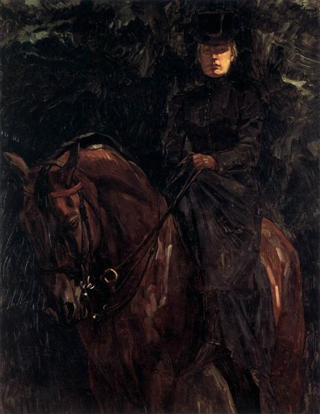 The Equestrienne - Ida Görz, 1901 - Wilhelm Trubner