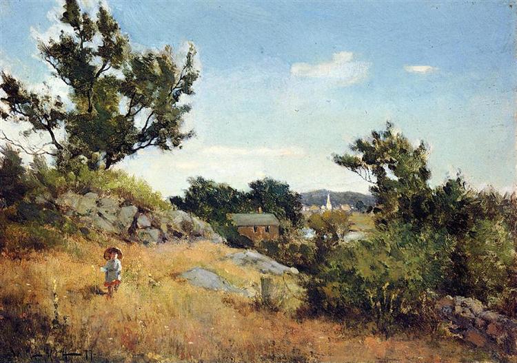 A View of the Village - Willard Metcalf