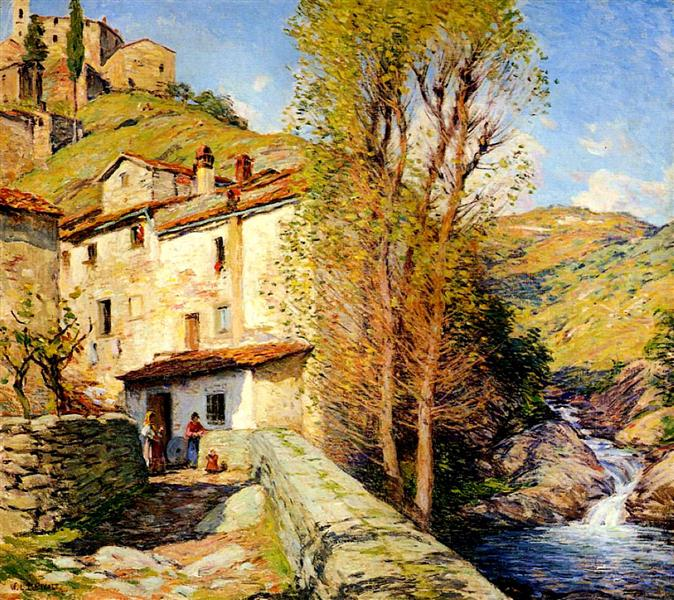 Old Mill, Pelago, Italy - Willard Metcalf