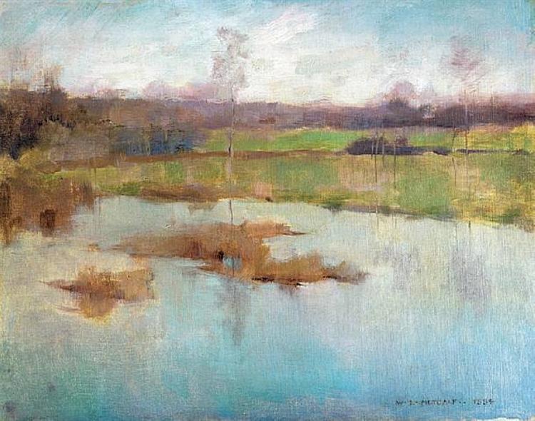 Pond Giverny, 1884 - Willard Metcalf
