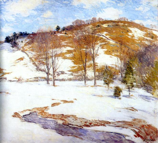 Snow in the Foothills, c.1920 - c.1925 - Willard Metcalf