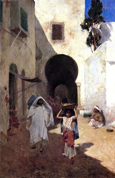 Street Scene Tangiers, 1887 - Willard Metcalf