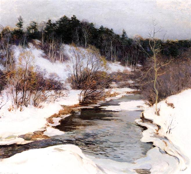 The Frozen Pool, March, 1909 - Willard Metcalf