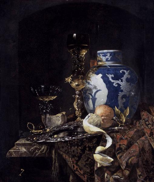 Still-Life with a Late Ming Ginger Jar - Willem Kalf