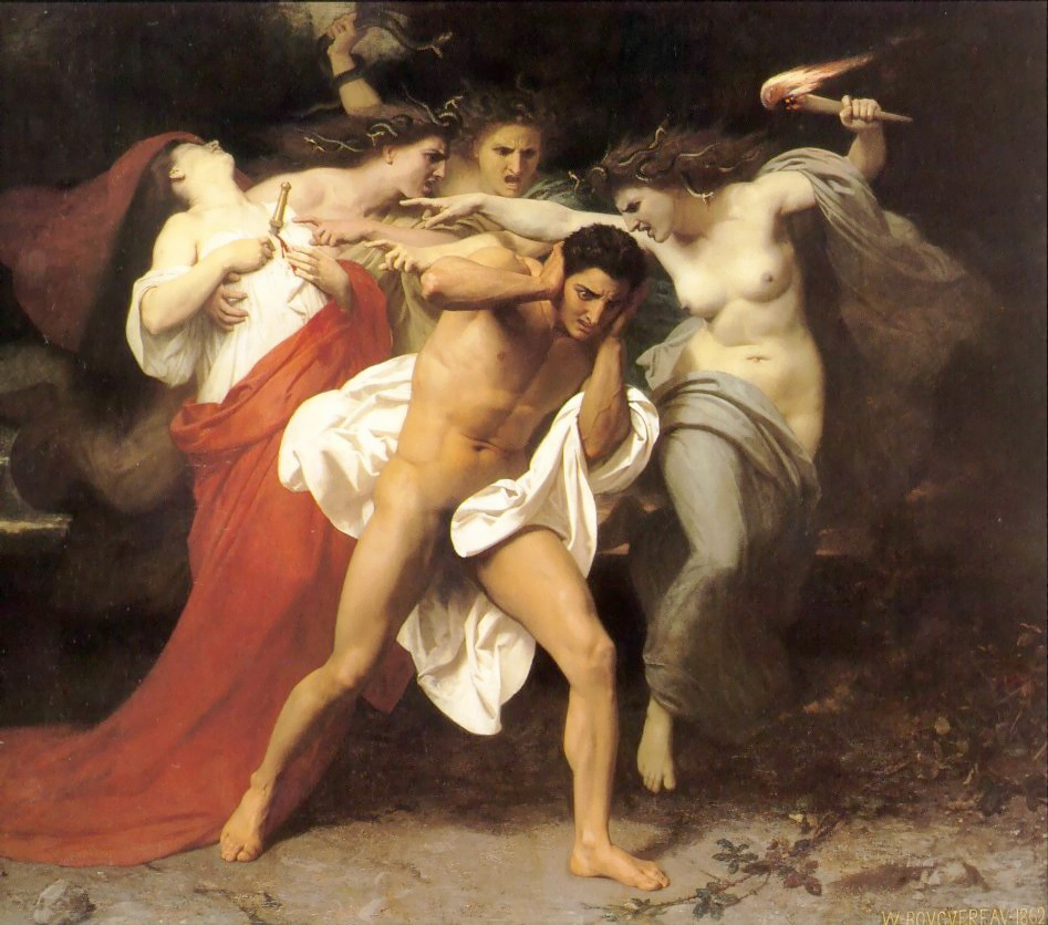 Orestes Pursued by the Furies, 1862