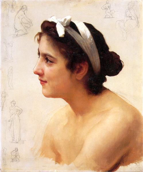 Study Of A Woman For Offering To Love, 1890 - William-Adolphe Bouguereau