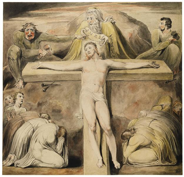 Christ Nailed to the Cross The Third Hour, c.1800 - c.1803 - William Blake