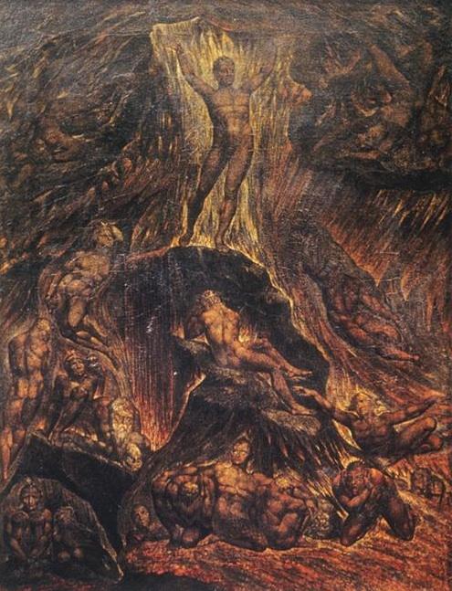Satan Calling Up his Legions - William Blake - WikiArt.org ...