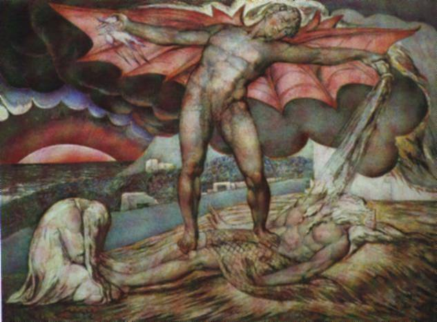 Satan smiting Job with boils, 1826 - William Blake