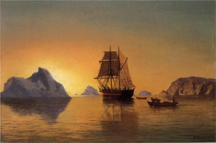 An Arctic Scene, 1881 - William Bradford