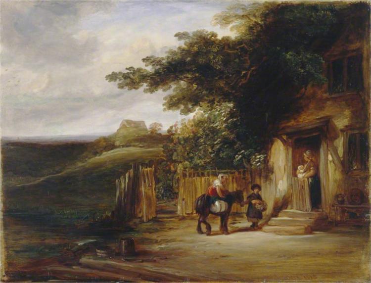 The Cottage Door, 1825 - William Collins