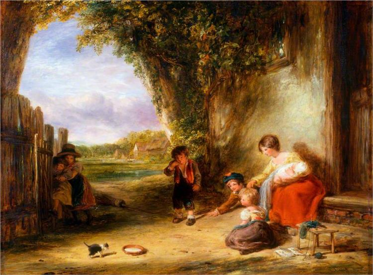 The Stray Kitten, 1835 - William Collins