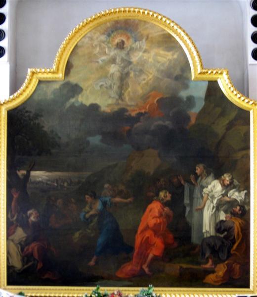 Central panel of the altar triptych, St Nicholas, Bristol - William Hogarth
