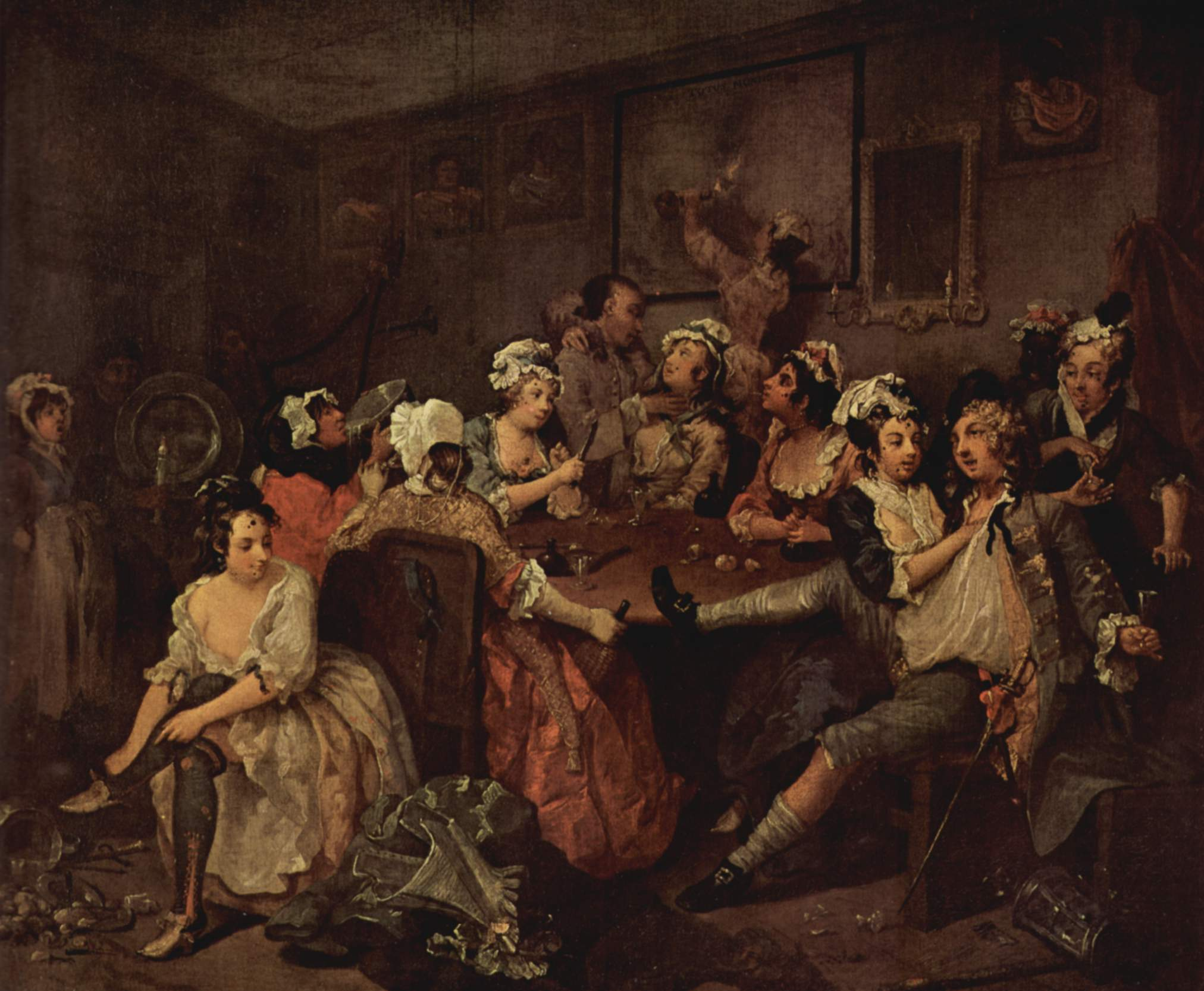 scene in a tavern 1732 1735 william hogarth