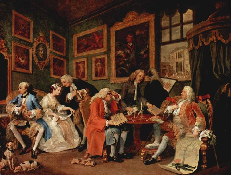 The Marriage Contract, c.1743 - c.1745 - Уильям Хогарт