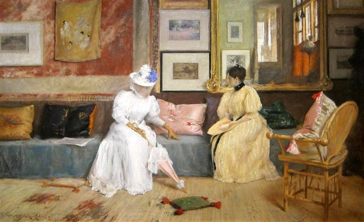 A Friendly Call - William Merritt Chase