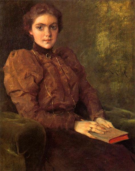 A Lady in Brown - William Merritt Chase