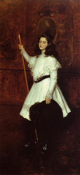 Girl in White, aka Portrait of Irene Dimock, c.1898 - c.1901 - Уильям Меррит Чейз