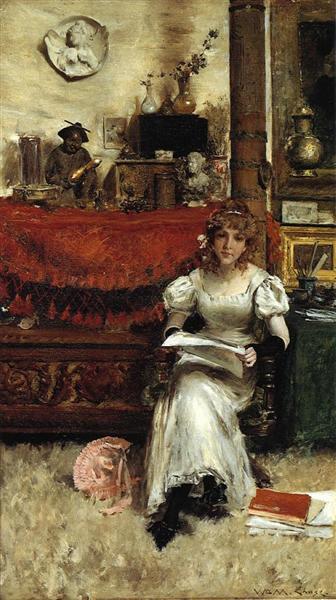 In the Studio, c.1884 - Уильям Меррит Чейз