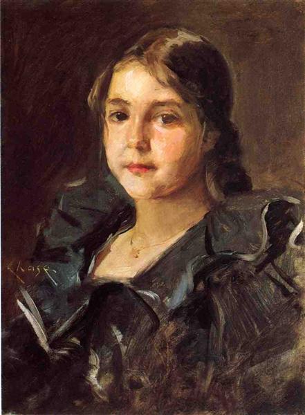 Portrait of Helen Velasquez Chase - William Merritt Chase