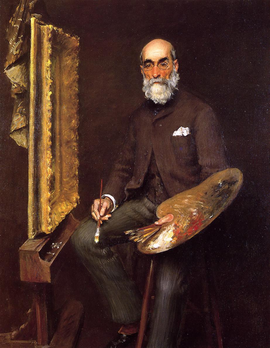 Portrait of Worthington Whittredge - William Merritt Chase ...