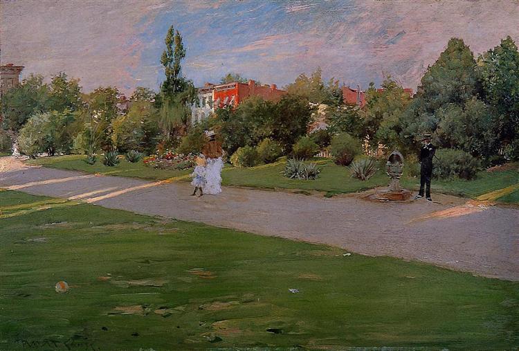 Prospect Park, Brooklyn, 1887 - William Merritt Chase