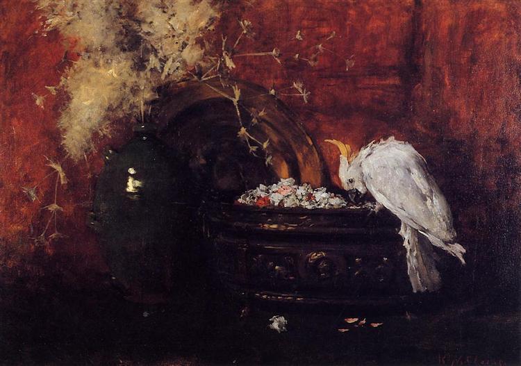 Still Life with Cockatoo, c.1881 - William Merritt Chase