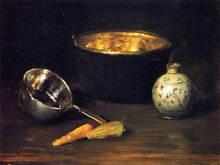 Still Life with Pepper and Carrot, c.1900 - Вільям Меріт Чейз