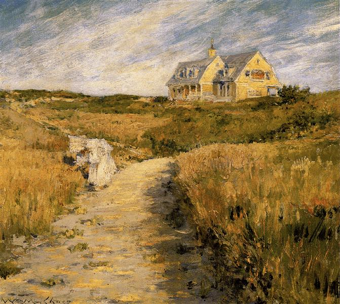 The Chase Homestead at Shinnecock, 1893 - William Merritt Chase