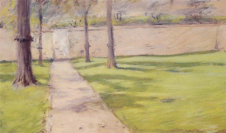 The Garden Wall - William Merritt Chase