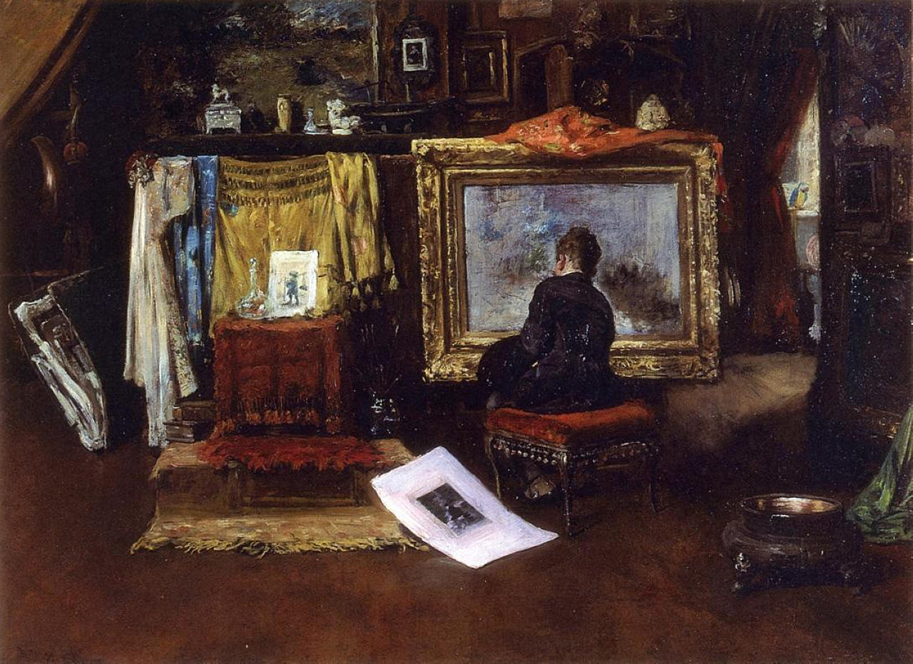 "an analysis of the tenth street studio by william merritt chase Women painted into ""exotic"" studio scenes  william merritt chase  tenth street (1882), alice in studio in shinnecock long island sun."