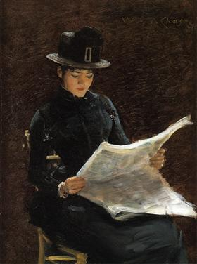 The Morning News - William Merritt Chase