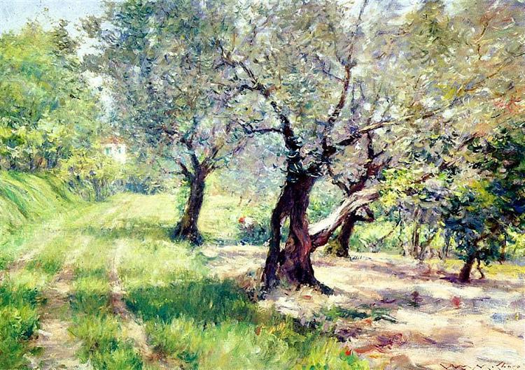 The Olive Grove, 1910 - William Merritt Chase