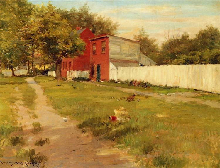 The White Fence - William Merritt Chase