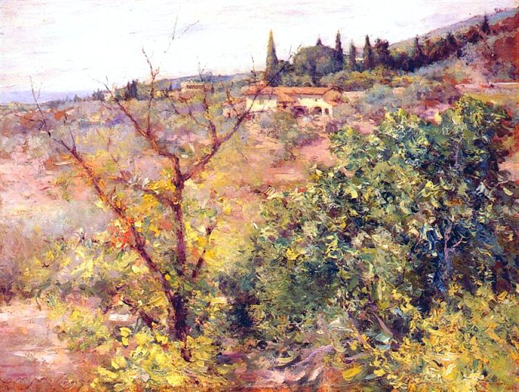 View of Fiesole, 1907 - William Merritt Chase