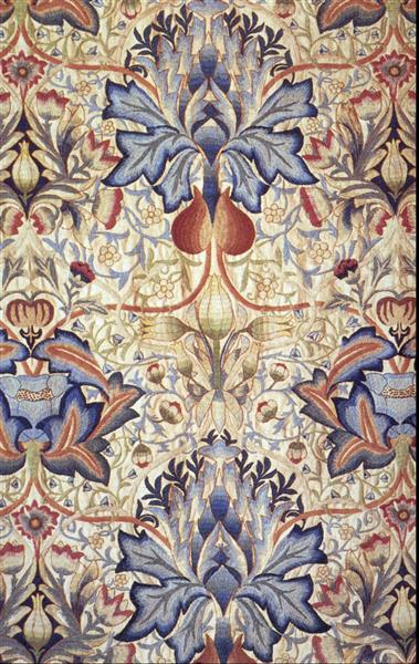 Acanthus embroidered panel, 1890 - William Morris