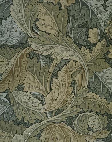 Acanthus wallpaper 1875 william morris - Papier peint art nouveau ...