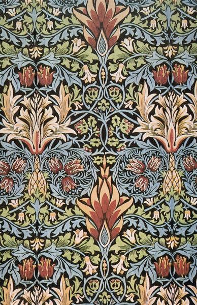 Snakeshead printed textile, 1876 - William Morris