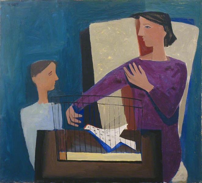 Boy and a Birdcage, 1947 - William Scott